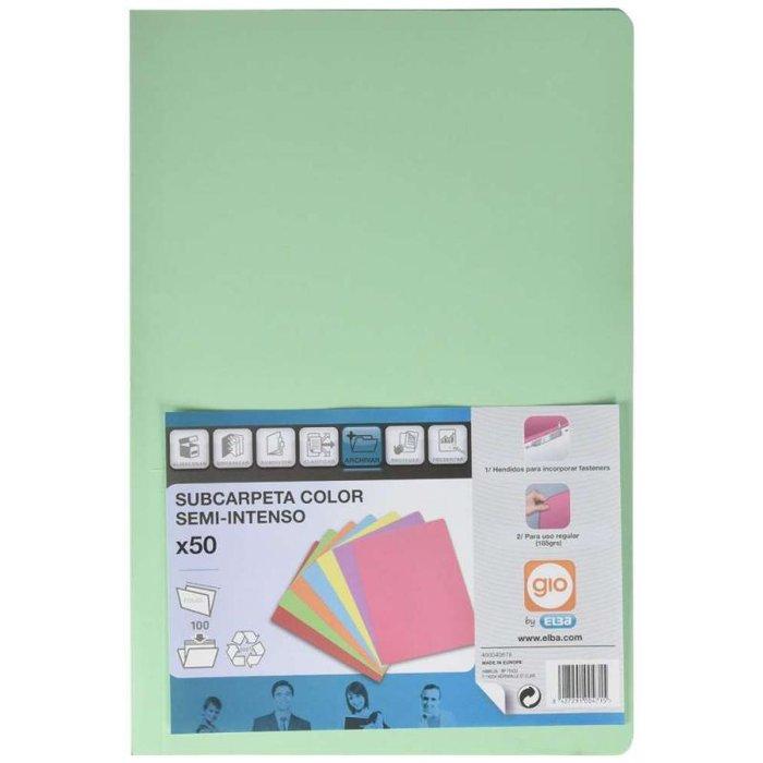 Subcarpeta folio elba 185gr verde