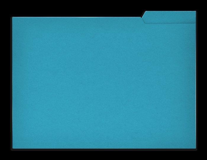 Subcarpeta pestaña derecha folio 250g azul