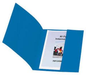 Subcarpeta fº 320gr con bolsa azul