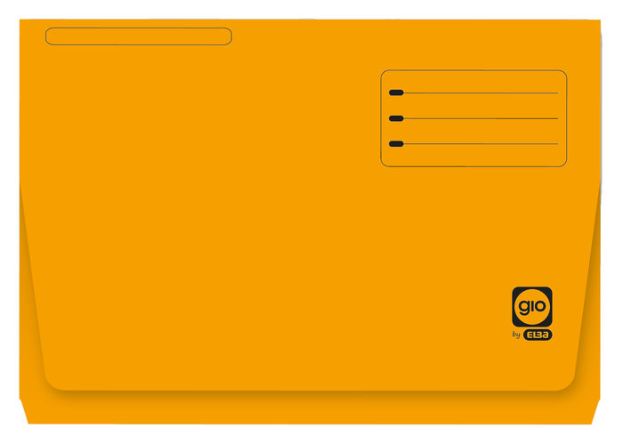 Subcarpeta con bolsa y solapa folio 320g naranja