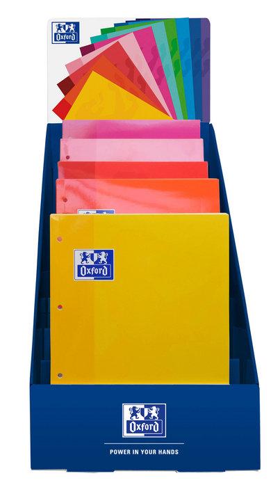 Expositor 25 recambios oxford a4 80h 90g colores calidos