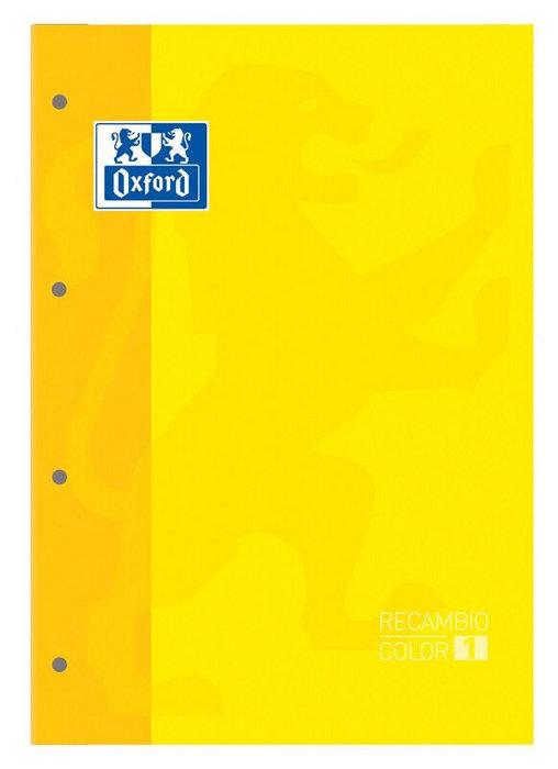 Recambio a4 4 taladros 80h cuadro 5mm oxford amarillo