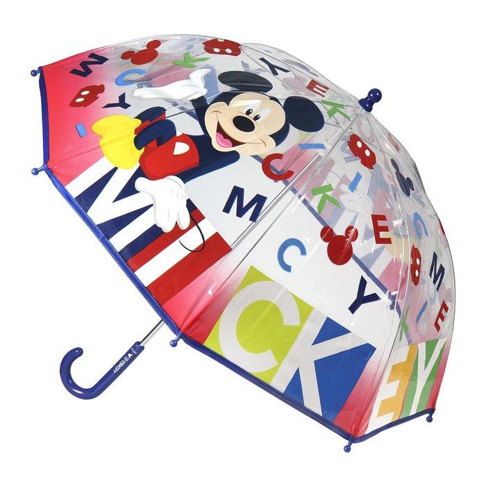 Paraguas manual poe mickey transparente multicolor