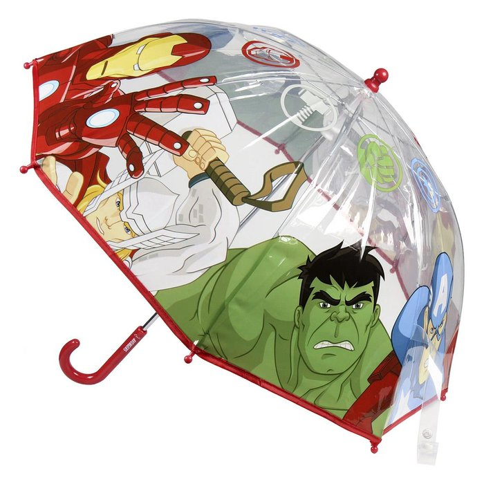 Paraguas manual poe avengers burbuja transparente