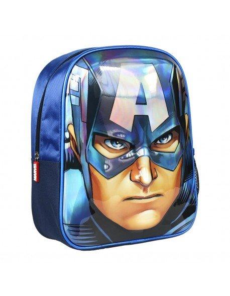 Mochila infantil 3d premium avengers capitan america