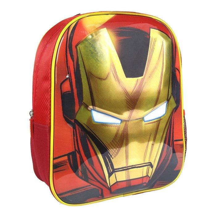 Mochila infantil 3d premium avengers iron man efecto brillo