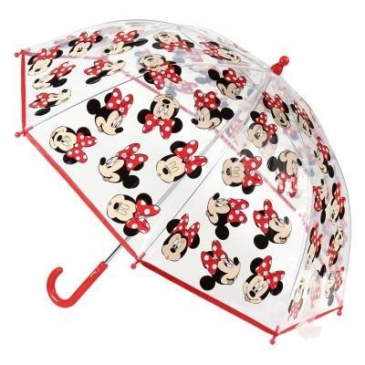 Paraguas manual poe minnie burbuja transparente carita