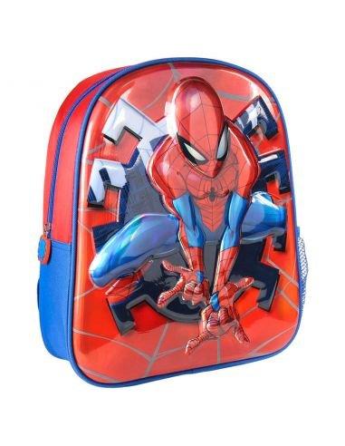 Mochila infantil 3d premium metalizada spiderman