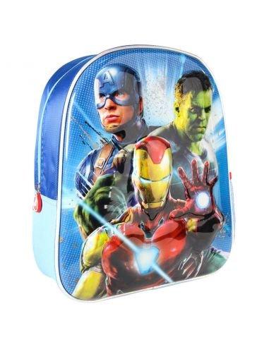 Mochila infantil 3d premium metalizada avengers