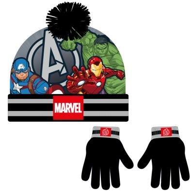 Conjunto gorro guantes avengers