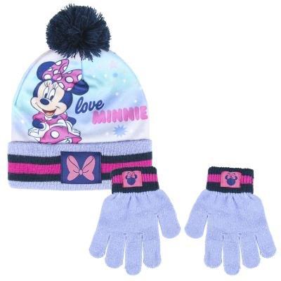 Conjunto gorro guantes minnie