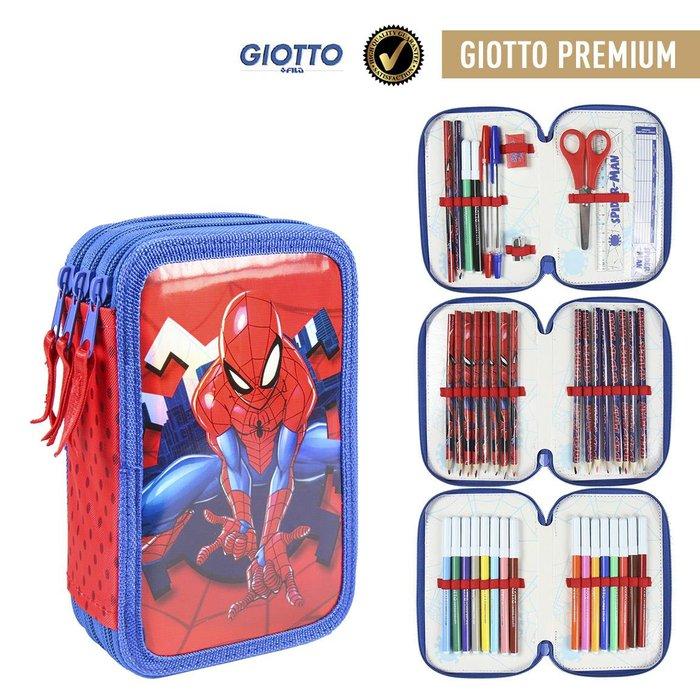 Plumier triple giotto premium metalizada spiderman
