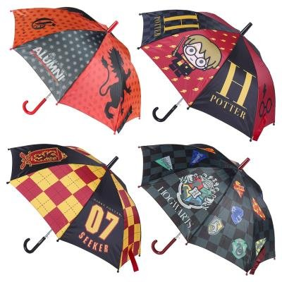 Paraguas automatico harry potter hogwarts surtido 4 modelos