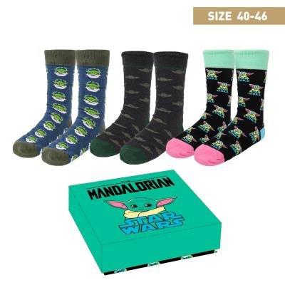 Pack c. regalo 3 modelos calcetines mandalorian talla 40-46