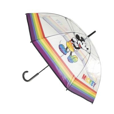Paraguas largo manual transparente poe disney pride