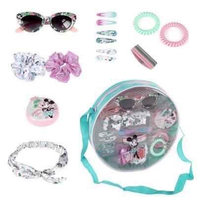 Set de belleza bolsito redondo + accesorios minnie