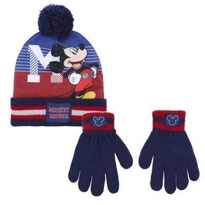 Conjunto 2 piezas gorro + guantes  mickey