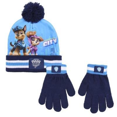 Conjunto 2 piezas gorro + guantes paw patrol movie