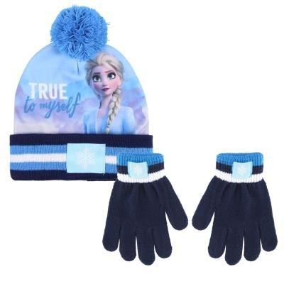 Conjunto 2 piezas gorro + guantes frozen ii