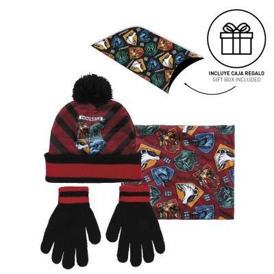 Conjunto 3 pzas guantes+gorro+cuello c. regalo harry potter
