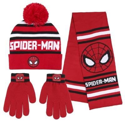 Conjunto 3 piezas bufanda + guantes + gorro spiderman