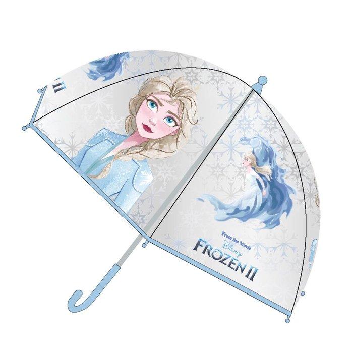 Paraguas manual poe burbuja frozen ii transparente