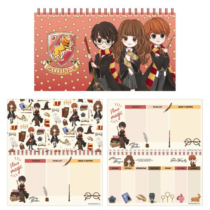 Planificador semanal harry potter cute