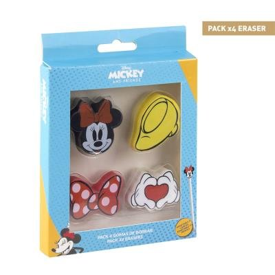Goma de borrar pack x4 minnie