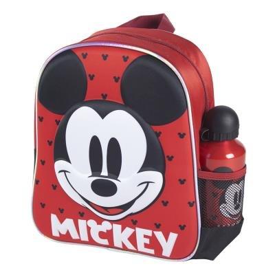 Mochila infantil 3d + botella mickey