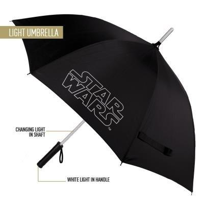 Paraguas largo manual star wars con luz en el mango