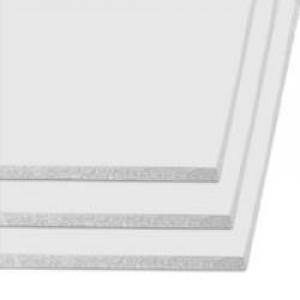 Carton pluma color a4 3mm blanco