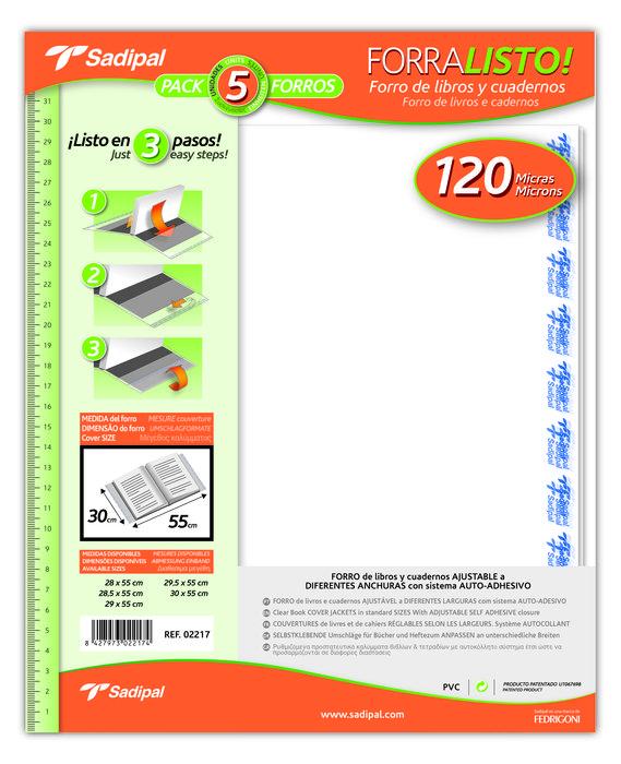 Forro ajustable forralisto 30x55cm pvc 120 5u