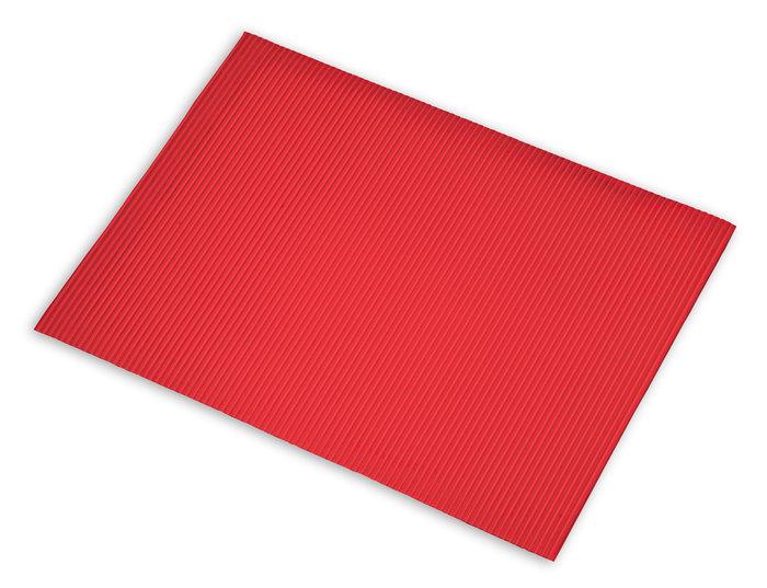 Carton ondulado 50x70 rojo