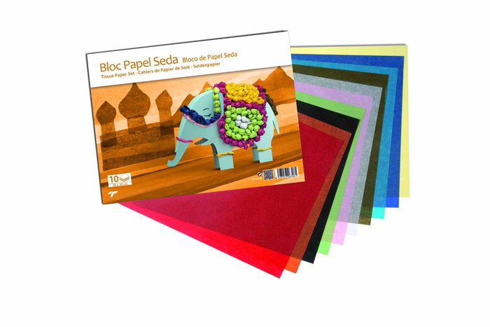 Bloc manualidades papel seda base