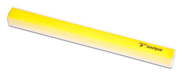 Rollo terciopelo nylon adhesivo 0,45x1m amarillo