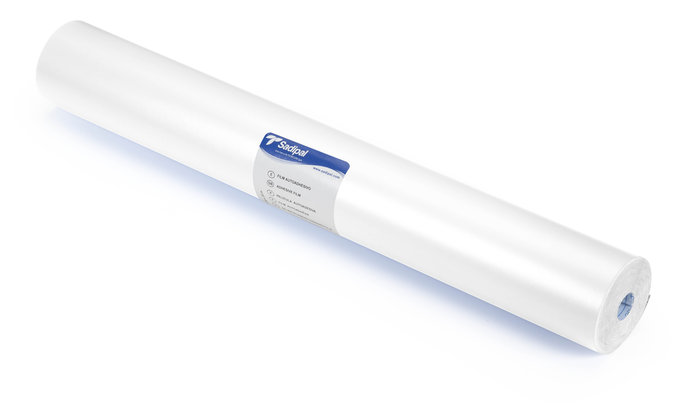 Rollo film adhesivo 0,50x20m blanco