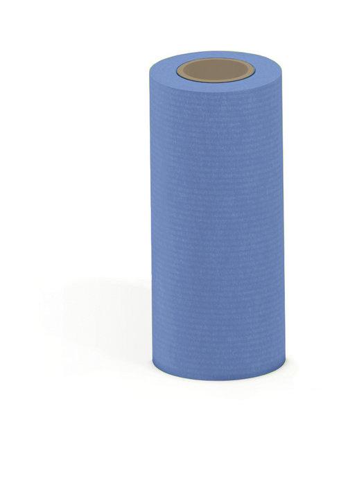 Papel kraft verjurado bobina mostrador 31cm 3kg azul