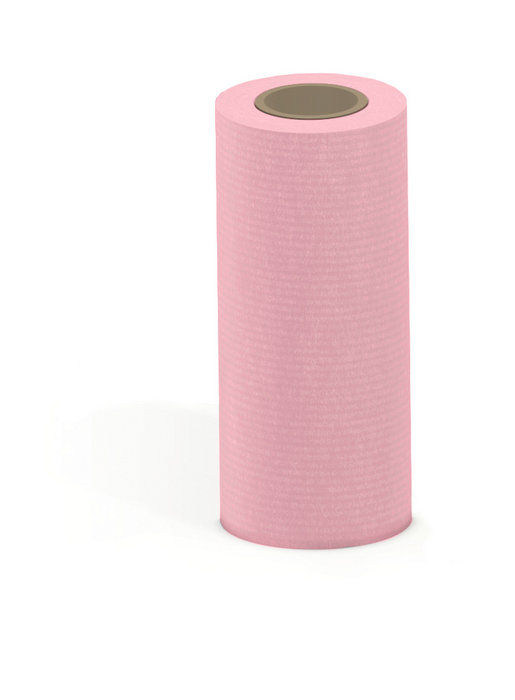 Papel kraft verjurado bobina mostrador 31cm 3kg rosa