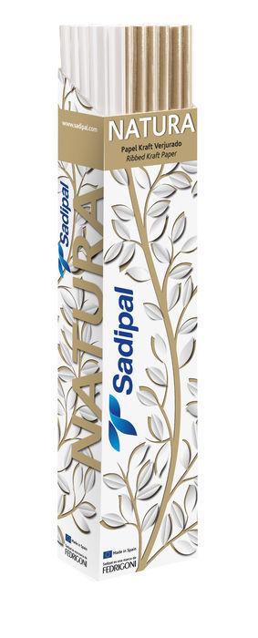Expositor 24 rollos papel kraft 3m marron blanco surtidos
