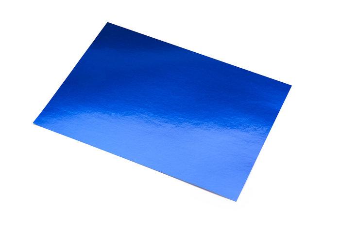 Cartulina 50x65 metalizada azul