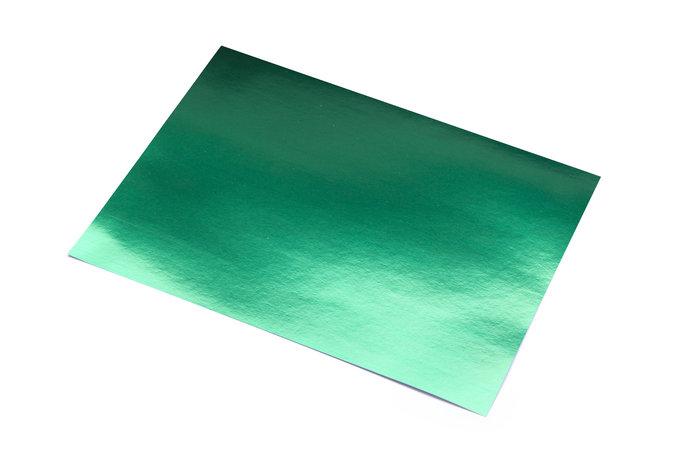 Cartulina 50x65 metalizada verde