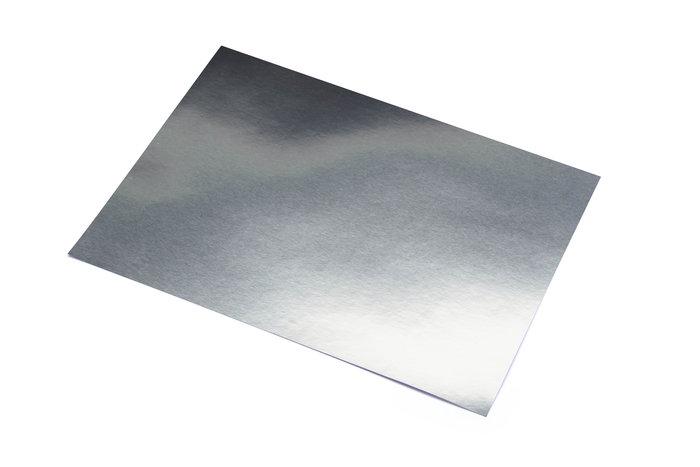 Cartulina 50x65 metalizada plata