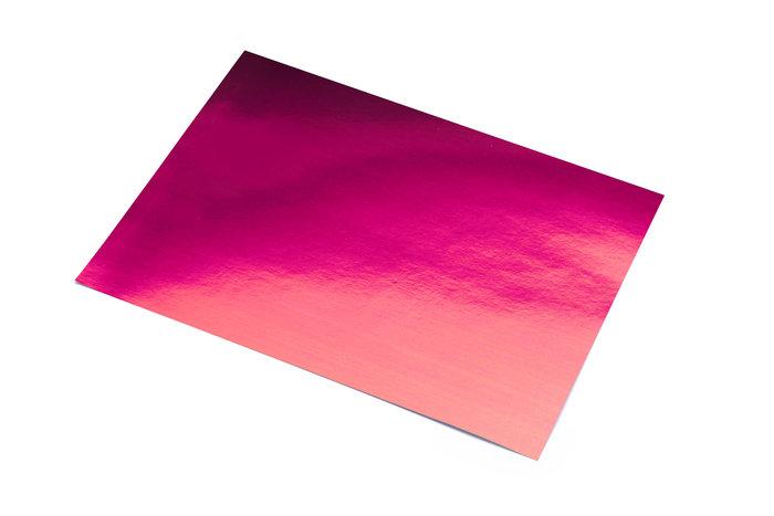 Cartulina 50x65 metalizada rosa