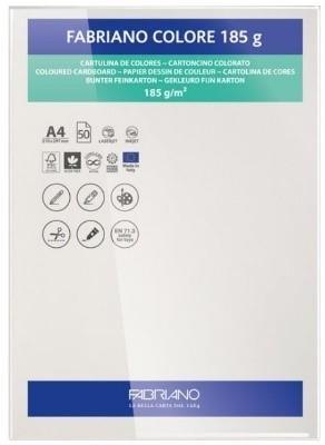 Cartulina fabriano 185gr a4 50u blanca