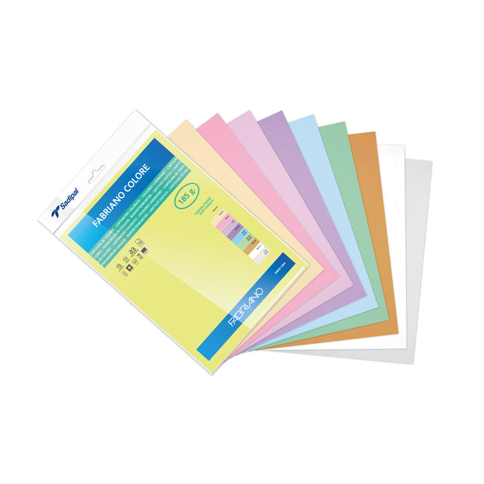 Cartulina fabriano a3 185g colores pastel