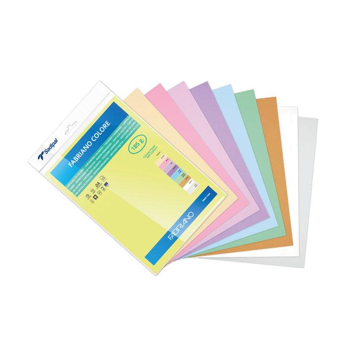 Cartulina fabriano a4 185gr colores surtidos pastel 10h