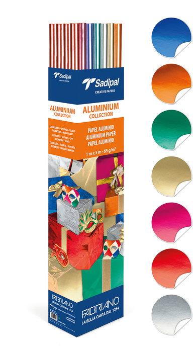Expositor 25 rollos papel metalizado 3m colores std