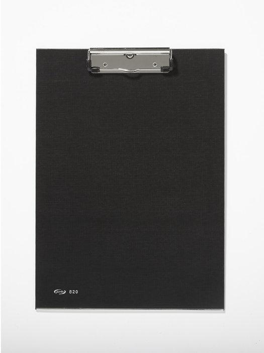 Carpeta pinza metalica carton forrado negro