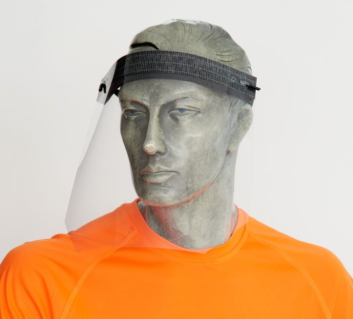 Pantalla facial 5ud ajustables 100% reciclable 300 micras