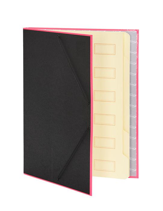 Carpeta clasificadora borde neon rosa